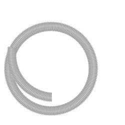 Schlauch D=32 mm, grau, Meterware