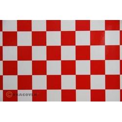 Oracover 47-010-023-010 Klebefolie Orastick Fun 3 (L x B) 10m x 60cm Weiß, Rot