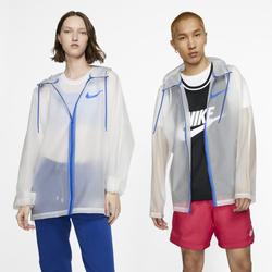 Nike transparente Regenjacke - Weiß, size: L