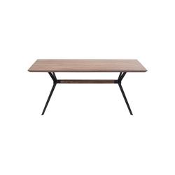 KARE Esstisch Tisch Downtown Walnuss 220x100cm