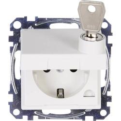 Kopp Einsatz Schutzkontakt-Steckdose abschließbar, Schutzkontakt-Steckdose mit Klappdeckel HK 07 Re