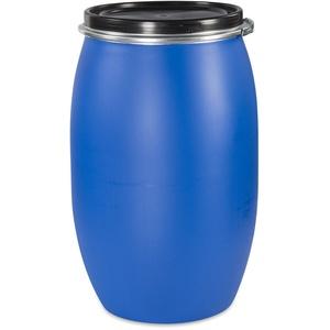 Weithalsfass 120 Liter Maischefass Regentonne Futtertonne Regenfass blau