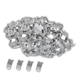 vidaXL 500 Schwalbenschwanz-Klammern für NATO-Draht Verzinkter Stahl Gurtstecker