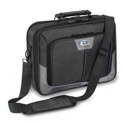 PEDEA Laptoptasche 15,6 Zoll (39,6 cm) PREMIUM Notebook Umhängetasche mit Schultergurt, grau