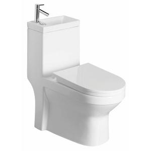 HAK Wand-WC-Befestigung HYGIE Kombi -WC, mit Waschbecken, Spülkasten und WC-Sitz weiß