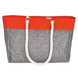 Shopping Bag – San Diego | bags2GO Grey-Melange/Neon-Orange