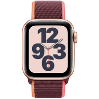 Apple Watch SE GPS + Cellular 40 mm Aluminiumgehäuse gold, Sport Loop pflaume