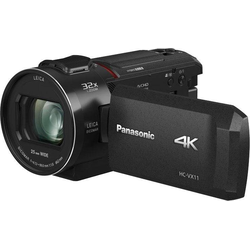 Lumix Panasonic HC-VX11EG-K Camcorder (4K Ultra HD, WLAN (Wi-Fi), 24x opt. Zoom)