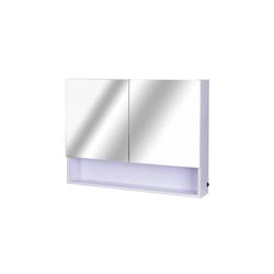 HOMCOM Spiegelschrank LED Wandspiegelschrank weiß