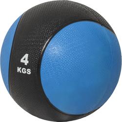 Medizinball aus Gummi Blau 4 kg