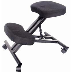 dynamic24 Stuhl, Kniestuhl Sitzhocker Hocker Kniehocker Computerstuhl Bürostuhl Büro schwarz