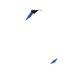 TRELOCK K 2 60/10 Kombi Blue Fahrradschloss (60 cm lang / 10 mm stark, Blau)