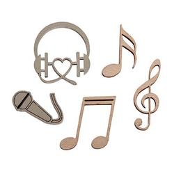 Rayher Holz-Streudeko Musik 12 St.