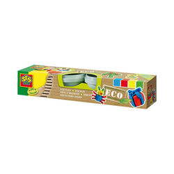 SES Creative Knete Knetset Eco (4 Farben á 90 g)