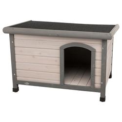 TRIXIE natura Hundehütte Classic mit Flachdach grau, S: 85 × 58 × 60 cm, grau