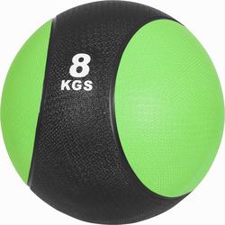 Medizinball aus Gummi Grün 8 kg