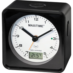 MAXITIME Damen Funkwecker '950544' schwarz / weiß, Größe One Size, 4556374