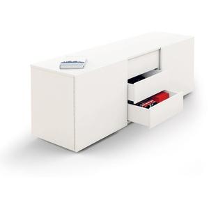 Kerkmann Sideboard weiß mit Schiebetüren und Schubladen