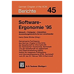 Software-Ergonomie '95 - Buch