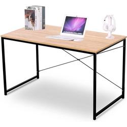 Woltu Schreibtisch, Schreibtisch aus Holz & Stahl in modernem Design natur