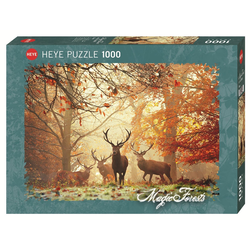 HEYE Puzzle HEYE 29805 Magic Forests Stags, 1000 Teile Puzzle, 1000 Puzzleteile braun