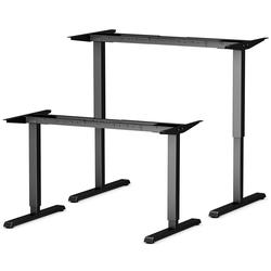 bümö Schreibtisch OM-ASF300, Schreibtischgestell DIY elektrisch höhenverstellbar - Farbe: Schwarz schwarz