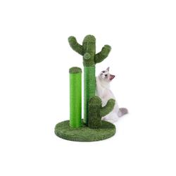 muchen Kratzbaum Katzenkratzbaum Kaktus-Kratzbaum Mit Ballspielzeug für Katzen Kratzpfosten Kratzstamm Sisal-Seil Kletterbaum grün 42 cm