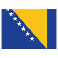 Flagge Bosnien-Herzegowina 90x150cm mit Befestigungsösen