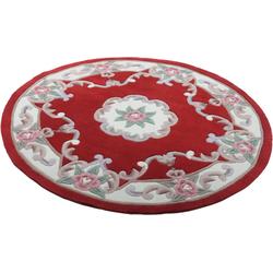 Teppich Ming, THEKO, rund, Höhe 14 mm, hochwertiges Acrylgarn rot Ø 150 cm x 14 mm