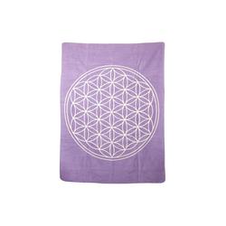 Wolldecke Baumwolldecke Blume des Lebens, yogabox lila