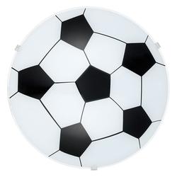 Junior 1 Wand- & Deckenleuchte Ø 24,5cm Motiv Fussball, Weiß