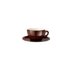 Caffè Latte Tasse 0,3l + Untertasse Ø 16 cm - Joy braun