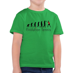 Shirtracer T-Shirt Tennis Evolution - Evolution Kind - Jungen Kinder T-Shirt grün 140 (9/11 Jahre)