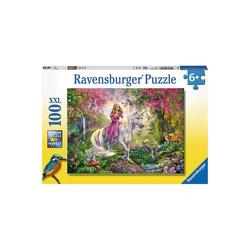 Ravensburger Puzzle Puzzle, 100 Teile XXL, 49x36 cm, Magischer Ausritt, Puzzleteile