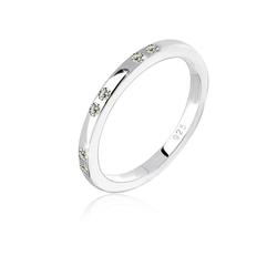 Elli Fingerring Kristalle 925 Sterling Silber, Kristall Ring 58