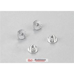Killerbody Aluminium Radmuttern Silber 4 Stk. / KB48365SL
