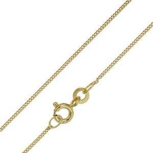 trendor 72023 Halskette für Damen und Herren Gold 333 Panzer 1,1 mm breit, 60 cm