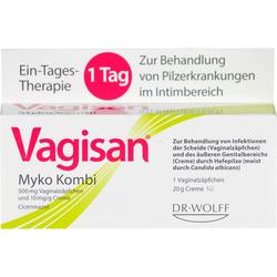 VAGISAN Myko Kombi 1-Tagestherapie 1 P