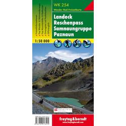 Landeck - Reschenpass - Samnaungruppe - Paznaun. 1 : 50.000