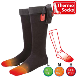 """Thermo Thermosocken THERMO SOCKS beheizbare Nachkauf Socken Outdoor Sie benötigen dazu das Starterset THERMO SOCKS!! Einzelsocken zum Nachkauf für Set !!! Nachkauf Socken zum Set """"Thermo Socks Set"""" !!! XL"""