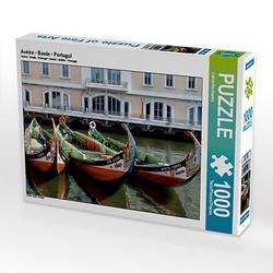 Aveiro - Boote - Portugal Lege-Größe 64 x 48 cm Foto-Puzzle Bild von Sichtweisen Puzzle