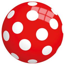 Idena Spielball Punkte rot, weiß