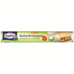 Toppits ® Butterbrotpapier, Breite: 28 cm, Länge: 16 m, 1 Rolle
