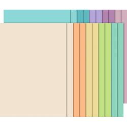 URSUS Papierkarton Tonpapier-Block Pastell, 20 Blatt 10 Farben