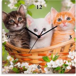Artland Wanduhr Katzen sitzen in einem Korb