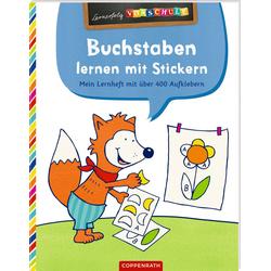 Buchstaben lernen mit Stickern als Buch von