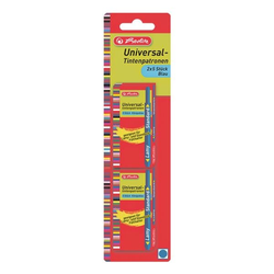 Universal-Tintenpatronen blau, Herlitz