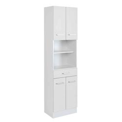 Weißer Badschrank mit 4 Türen 50 cm breit