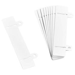10 VELOFLEX Heftstreifen   weiß Kunststoff
