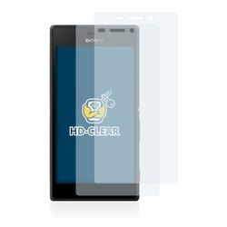 BROTECT Schutzfolie für Sony Xperia M2 D2303, (2 Stück), Folie Schutzfolie klar